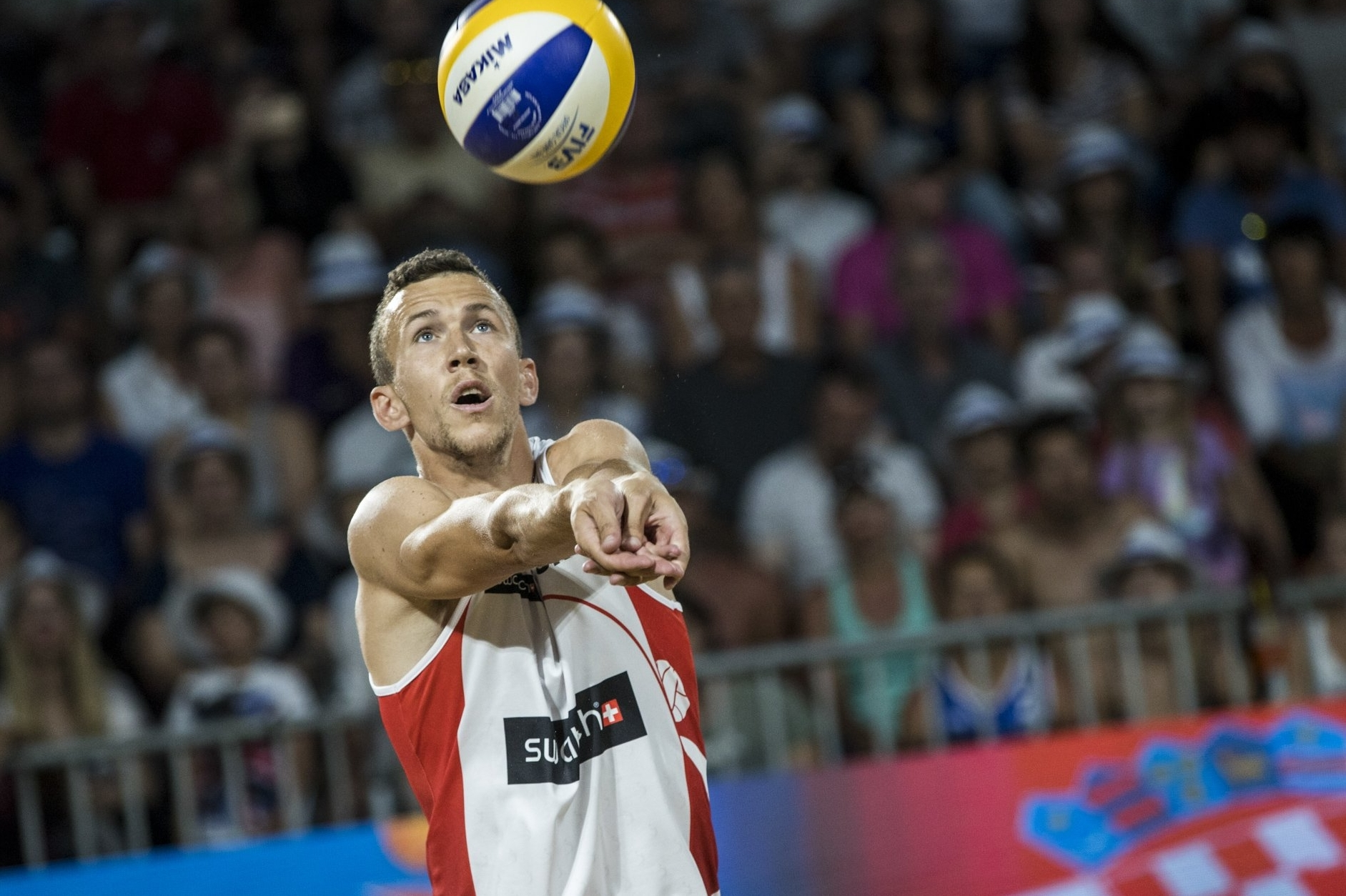 Perišić impressed in the second set against the Americans. Photocredit: Samo Vidic.