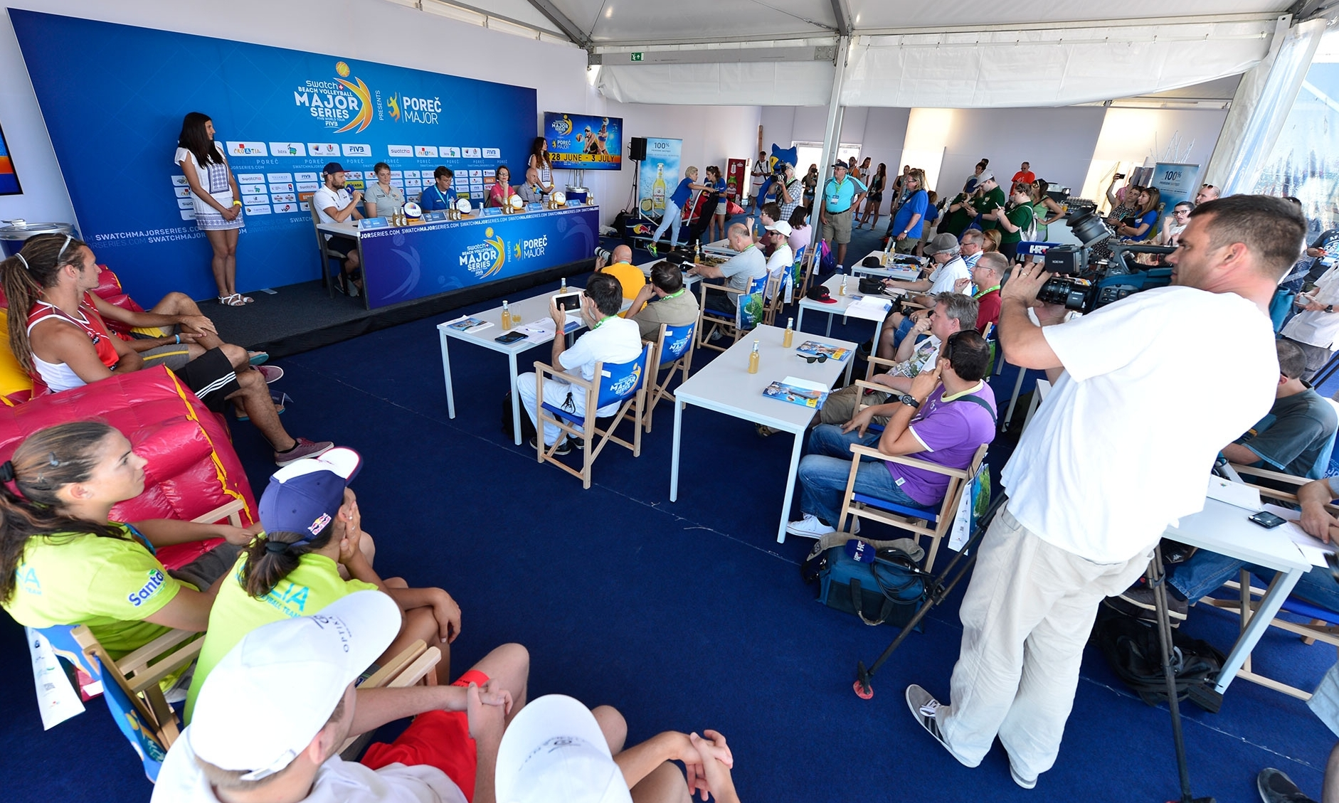 A packed press conference opened the Poreč Major. Photocredit: Bernhard Horst.