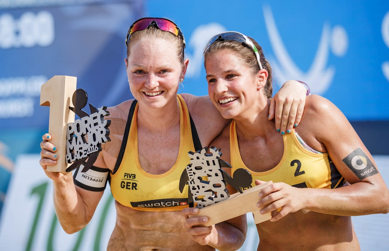 Julia and Chantal can't believe it - Gold at #PorecMajor. Photocredit: Mike Ranz